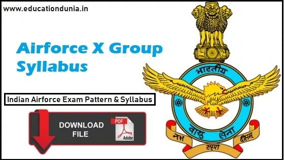 airforce x group syllabus