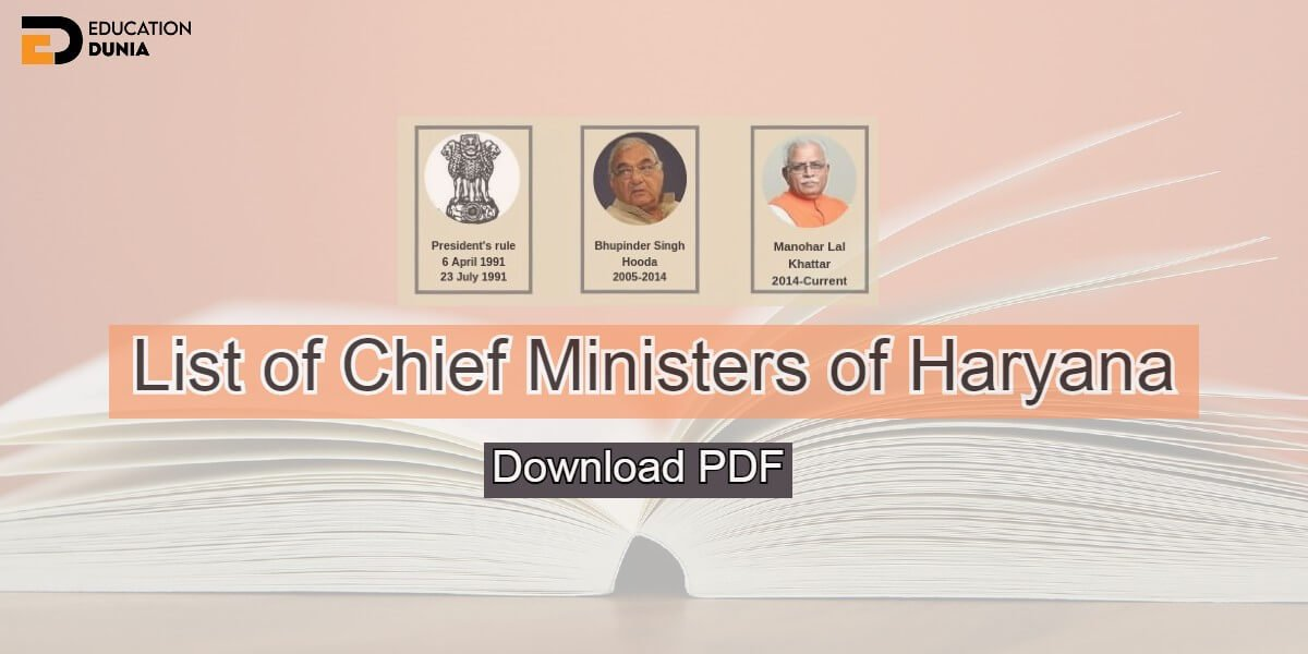 Chief Ministers of Haryana