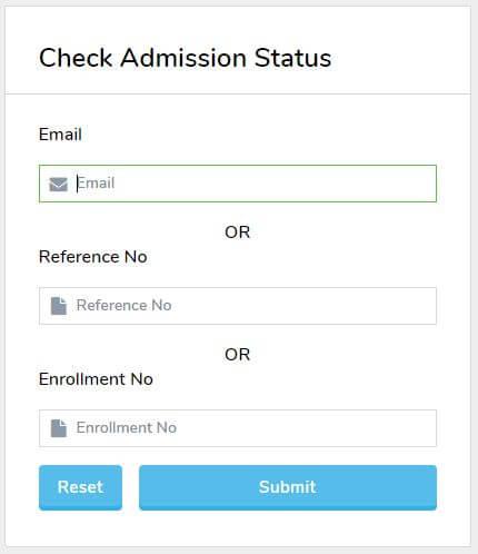 NIOS Admission Status Online