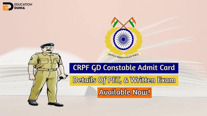 crpf gd constable admit card