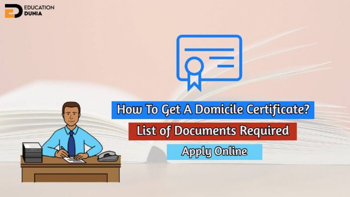 how to get a domicile certificate