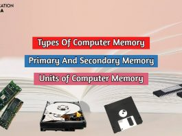 types of memory of computer