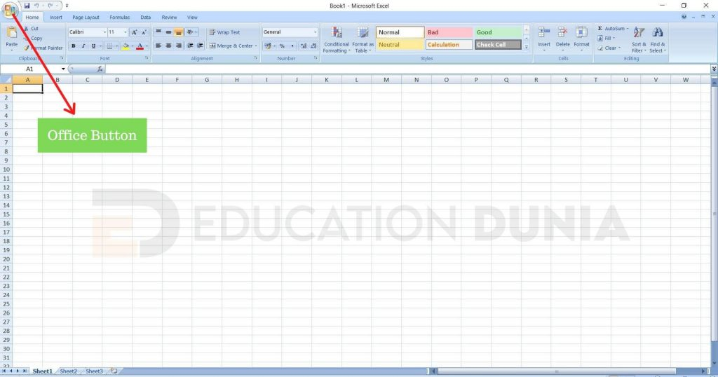 ms excel office button kya hai